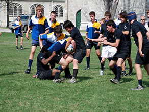 Albert College's Rugby Game in Belleville